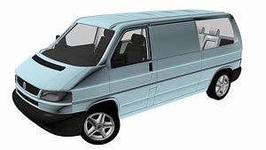 blue van 3D model