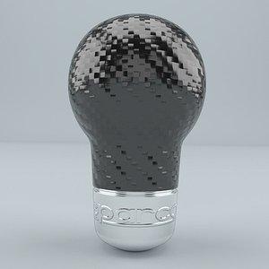 3D SPARCO RACING Shift Knob Carbon Look