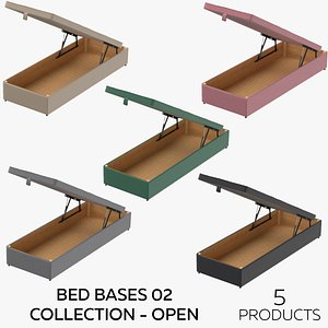 Bed Bases 02 Collection - Open 3D