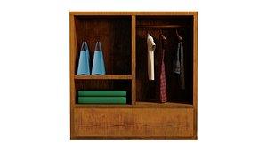closet with cloth model