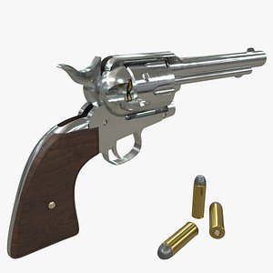 3D colt peacemaker pistol ammo