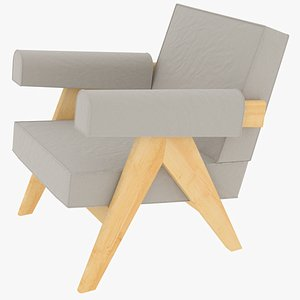 capitol complex armchair jeanneret 3D