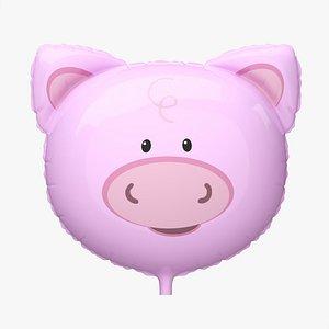 Decoration foil balloon 03 Pig 3D model