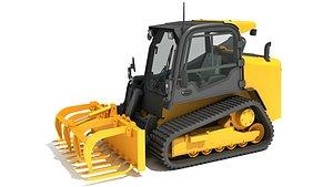 skid steer loader manure 3D