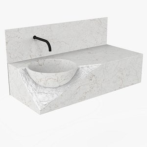 3D Marble sink