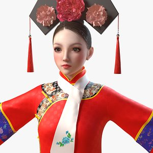 3D girl princess qing