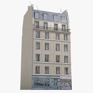 3D old paris house