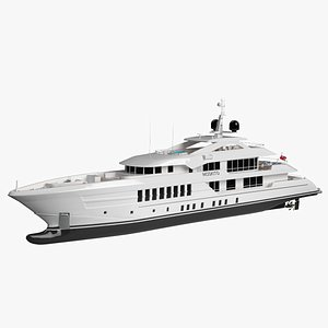Heesen Moskito Luxury Yacht 3D