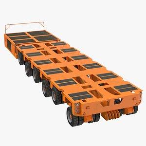 6 axle lines modular 3D model