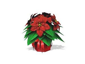 3D Poinsettia Gift Plant model