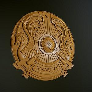 3D emblem kazakhstan