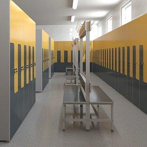 3D locker room lock