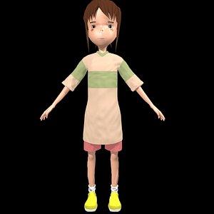 chihiro 3D model