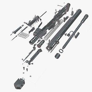 Barrett M82A1 model