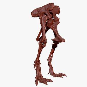 giganotosaurus hip leg set 3D model