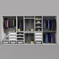 IKEA PAX WARDROBE 2 WITH CLOTHES