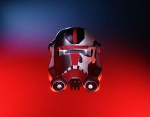 Star Wars Bad Batch Hunter Helmet 3D model