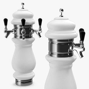 3D ceramic triple faucet draft beer model