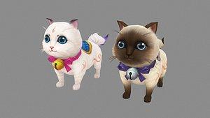 Cartoon fat cat mount 3D