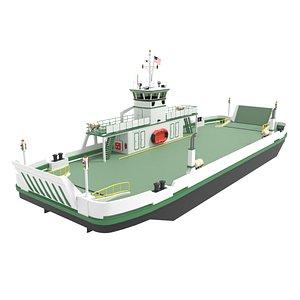 3D Small Car Ferry model