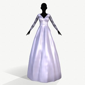 3D dress wedding model