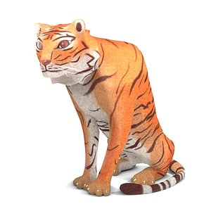 3D cartoon tiger