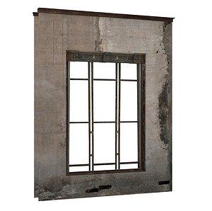 Industrial Metal Windows 01 01 3D model