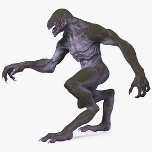 monster beast walking pose 3D model