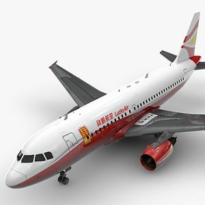 3D model AirbusA319-100LUCKY AIRL1437