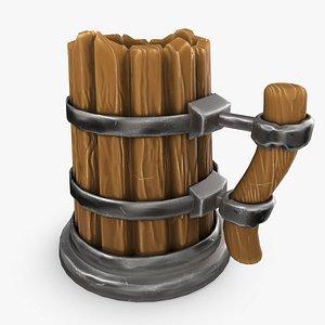 3D Medieval Mug model
