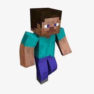 Steve Minecraft - Mixamo Animatable - Use your own Skin 3D model