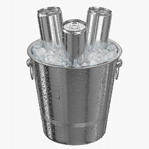 Ice Bucket With 250ML Cans model