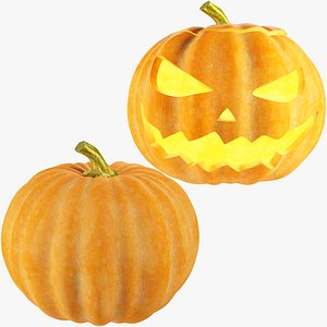 Halloween Pumpkins Collection V1 3D model