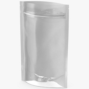 Zipper White Paper Bag with Transparent Front 150 g Open Mockup model