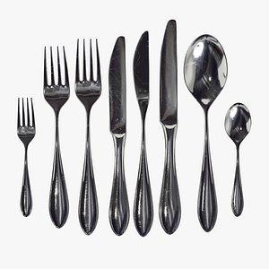 set cutlery 3D