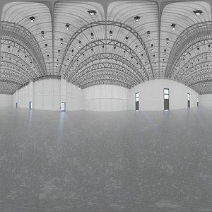 interior hangar scene 3D model