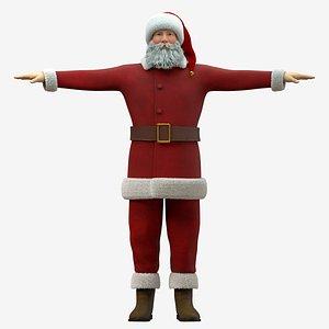 Santa Claus Rigged - Cinema 4D Octane Render and Standard 3D model