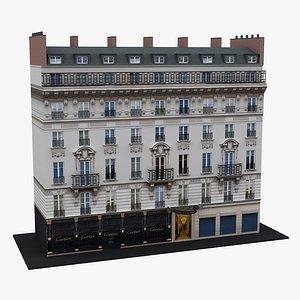 3D Typical Parisian Apartment Building 27