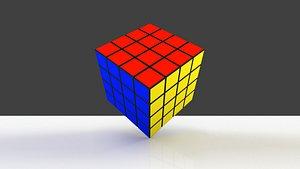 3D Rubiks Cube 3D 4 cubes