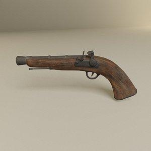 3D Pirate flintlock Jack Sparrow gun