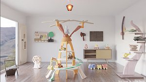 Interior Model CG Montessori Set 3D model