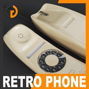 3ds max retro style telephone -
