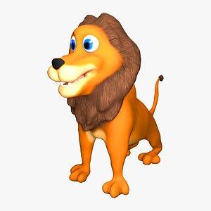 3D lion cartoon model
