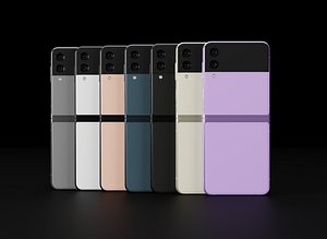 Samsung Galaxy Z Flip 3  in All Official Colors 3D model