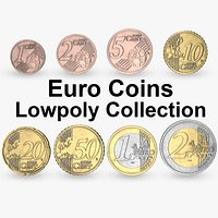 Euro Coins Lowpoly Collection PBR