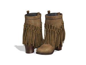 Sound Fringe Ankle Boots model