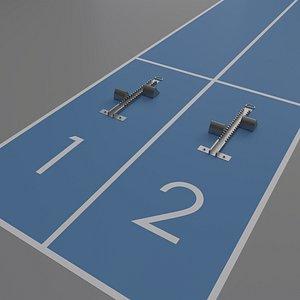 3D athletics starting blocks
