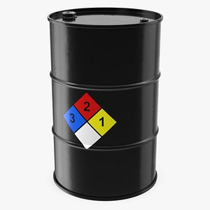 3D chemical barrel nfpa 704