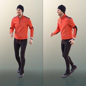 10032 John Sporty Man Jogging 3D
