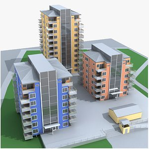 3D high-rise building model